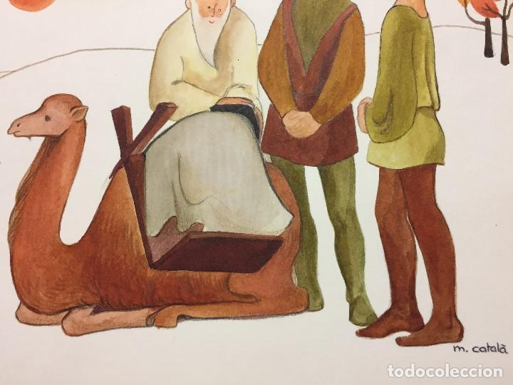 Arte: original de Mireia Catala para Enciclopedia Infantil, firmada y catalogada,40x30cms. - Foto 4 - 108013239