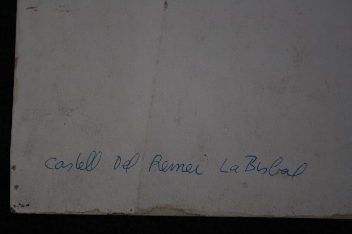 Arte: JOSÉ OLIVE GÓMEZ ( BARCELONA 1944 ) PRECIOSA ACUARELA , TITULADA, CASTELL DEL REMEI, LA BISBAL. - Foto 5 - 108726479
