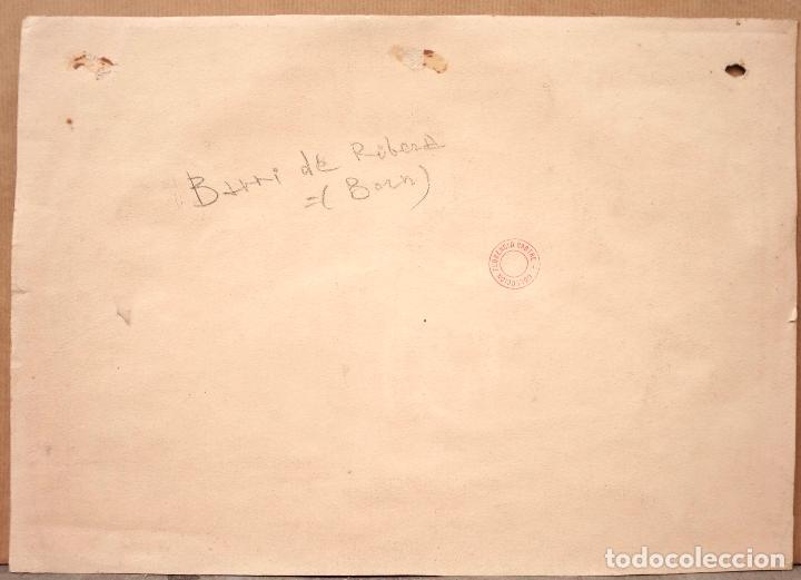 Arte: Acuarela Barri de la Ribera (Born), Barcelona, firmado Baye. 33x23,5cm - Foto 3 - 108868123