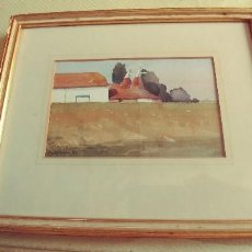 Arte: PRECIOSA ACUARELA DEL PINTOR INGLES C.E.WILKINSON TITULADA OAST HOUSES ,HEVER MIREN FOTOS. Lote 109272771