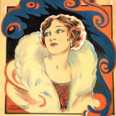 Arte: PROYECTO DE CARTEL. ACUARELA SOBRE PAPEL. FIRMADO J. DALMAU. ESPAÑA. CIRCA 1920. Lote 109341127