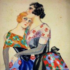 Arte: PROYECTO DE ILUSTRACIÓN. ACUARELA SOBRE PAPEL.. P. CLAPERA. ESPAÑA. CIRCA 1920. Lote 109458471