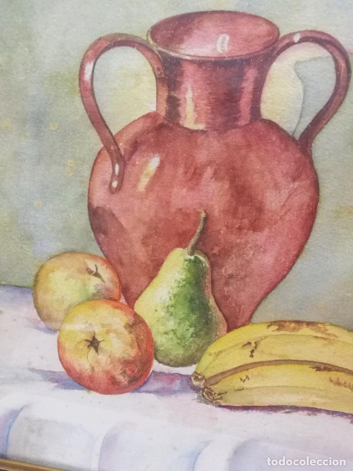Arte: Acuarela firmada B.de Ibarra.bodegon de frutas.epoca mediados del siglo xx - Foto 3 - 109481139