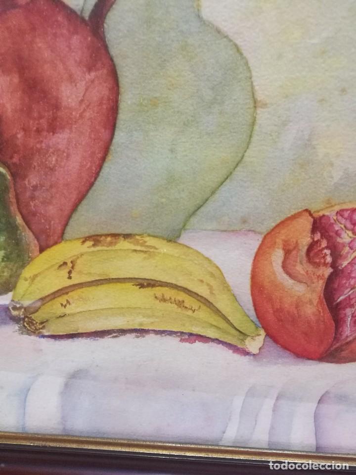 Arte: Acuarela firmada B.de Ibarra.bodegon de frutas.epoca mediados del siglo xx - Foto 4 - 109481139