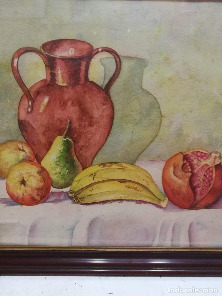 Arte: Acuarela firmada B.de Ibarra.bodegon de frutas.epoca mediados del siglo xx - Foto 6 - 109481139