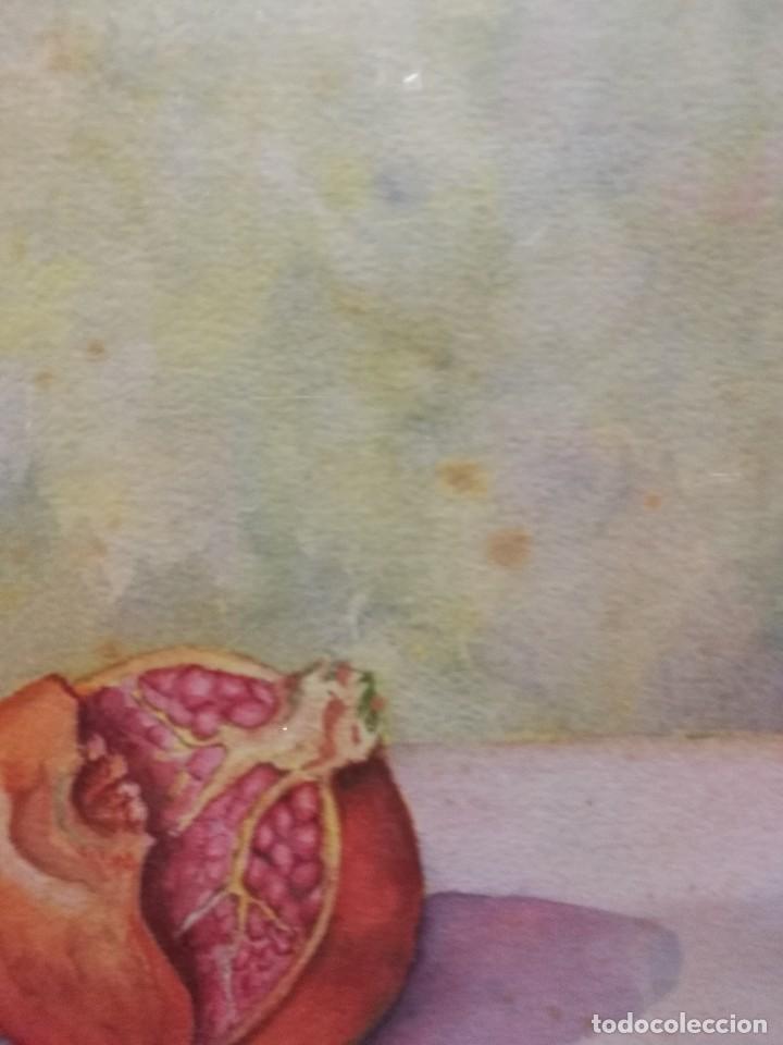 Arte: Acuarela firmada B.de Ibarra.bodegon de frutas.epoca mediados del siglo xx - Foto 8 - 109481139