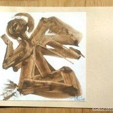 Arte: DEMETRIO CASCON - TORRELAVEGA - CANTABRIA - ORIGINAL PARA TARJETA FELICITACION NAVIDEÑA. Lote 109537979