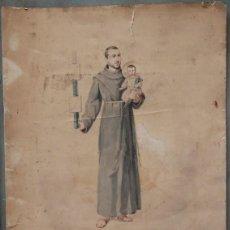 Arte: MANUEL MOLINÉ (1833-1901) GRAN DIBUJO DEDICADO AL EDITOR ANTONIO LÓPEZ, BARCELONA JUNIO 1891.. Lote 109557003