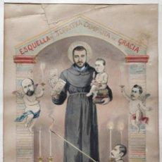 Arte: MANUEL MOLINÉ (1833-1901) GRAN DIBUJO DEDICADO AL EDITOR ANTONIO LÓPEZ, BARCELONA JUNIO 1891.. Lote 109557791