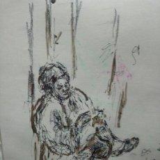 Arte: MUJER SENTADA PENSATIVA . Lote 110124127