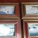 Arte: SERIE DE 4 CUADROS DE CRISTAL PINTADO A MANO. FRANCIA AÑOS 20/30. Lote 110188027