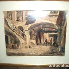 Arte: PINTURA ANTIGUA DE CEFERINO OLIVÉ CABRÉ. ACUARELISTA Y PAISAJISTA. Lote 110189999