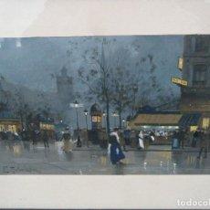Arte: NOCTURNO PARÍS - EUGENE GALIEN LALOUE. Lote 110243159