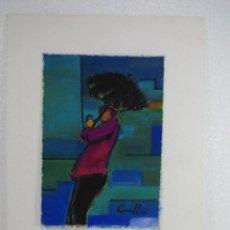 Arte: GOUACHE Y PASTEL JOAN CUNILLERA . Lote 110278003