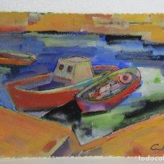 Arte: GOUACHE Y PASTEL JOAN CUNILLERA . Lote 110278607
