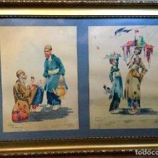 Arte: DOS ACUARELAS DEL PINTOR IRANÍ E.SVACHIAN FIRMADAS Y FECHADAS EN 1955. Lote 110370143