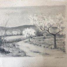 Arte: BONITA ACUARELA DE F. PEREZ ALBERT 1940'S. Lote 110462111