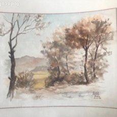 Arte: ACUARELA DE EUSEBIO NAVARRO 1942. SEVA. . Lote 110464239