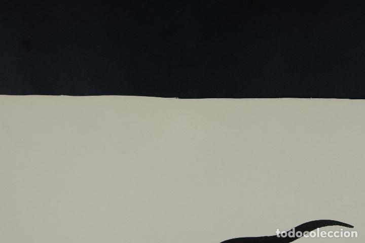 Arte: Acuarela y tinta sobre papel Tres caballos Escuela china mediados siglo XX - Foto 7 - 110736879
