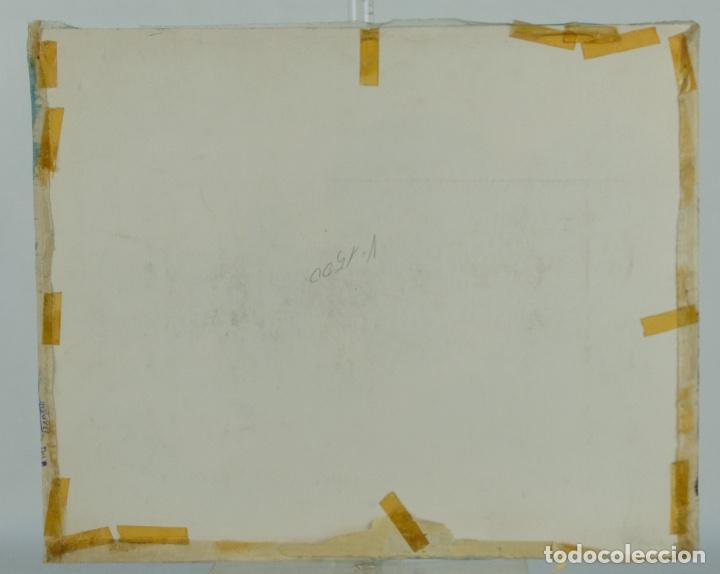 Arte: Acuarela y gouache sobre seda Paisaje oriental Escuela oriental mediados siglo XX - Foto 14 - 110737251