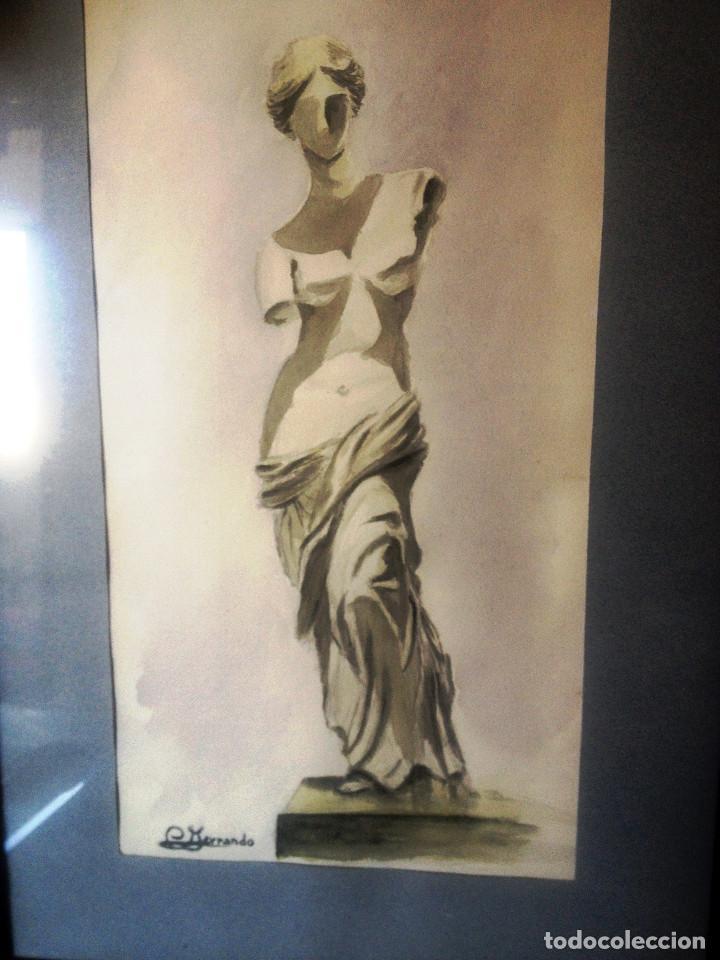 Arte: Acuarela Venus de Milo- Enmarcada- Estudio del pintor- - Foto 2 - 110822007