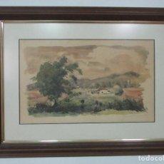Arte: ACUARELA - PAISAJE - FIRMA RAMÓN BARNADAS FABREGAS (OLOT 1909- GIRONA 1981). Lote 111024891