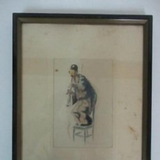Arte: ACUARELA - PAYASO, MÚSICO - FIRMADO P. CLAPERA, (SANT FRUITOS DEL BAGES 1906 - BARCELONA 1984). Lote 111025803