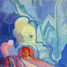 Arte: FONT DE LA VALL. ACUARELA SOBRE PAPEL. FIRMADO RODOLFO FRANCO(?). ESPAÑA(?). 1929. Lote 111678531
