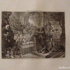 Arte: PAUL BEFORE FELIX GRABADO POR WILLIAM HOGARTH, PUBLICADO EN 1751. Lote 111993575