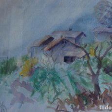 Arte: BLAS. ACUARELA DE 39X31 ENMARCADA EN 47X57. AÑO 1989 EN BUEN ESTADO.. Lote 112075579