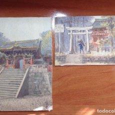 Arte: ESCUELA JAPONESA S.XIX. TEMPLOS JAPONESES.. Lote 112102467