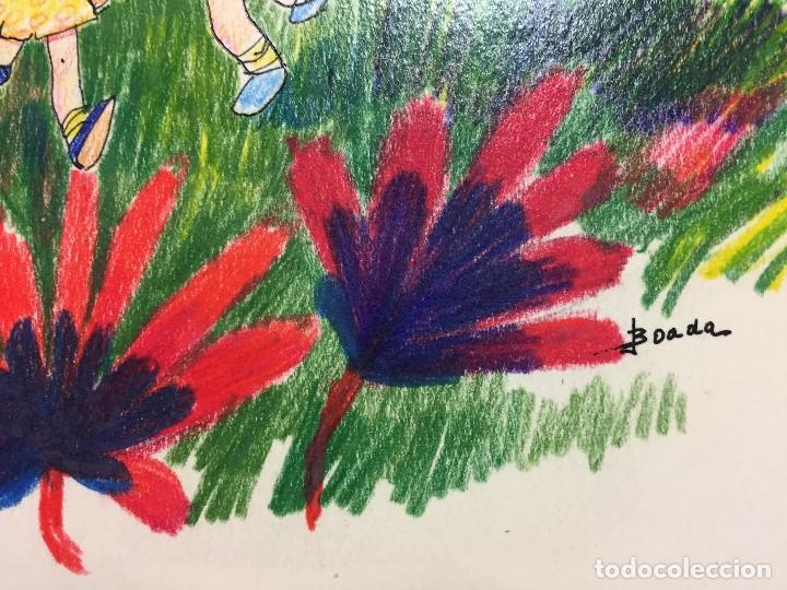 Arte: Dibujo original de Boada para ilustrar la Enciclopedia Infantil, de 10 tomos de Editorial Carroggio - Foto 4 - 112347863