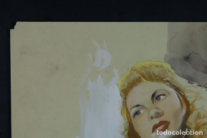 Arte: Gouache y acuarela sobre papel Bailarina firmado Toriski mediados siglo XX - Foto 3 - 112455931