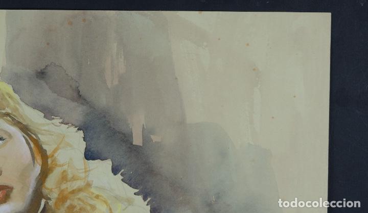 Arte: Gouache y acuarela sobre papel Bailarina firmado Toriski mediados siglo XX - Foto 4 - 112455931
