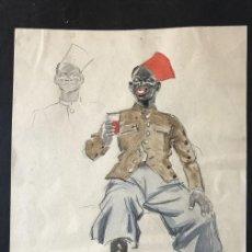 Arte: ACUARELA FIRMADO, SIN FECHA, DE AFRICANO COLONIAL. Lote 112457887