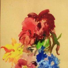 Kunst - COMPOSICIÓN CON FLORES. ACUARELA SOBRE PAPEL. FIRMADO. ESPAÑA. 1955 - 112621055