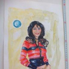 Arte: ACUARELA ORIGINAL FIRMADA POR EL PINTOR BRÄUER. SEÑORITA.. Lote 112746259