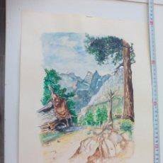 Arte: ACUARELA ORIGINAL FIRMADA POR EL PINTOR BRÄUER. KORSICA. 1979. Lote 112746351