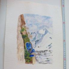 Arte: ACUARELA FIRMADA POR EL PINTOR BRÄUER. AÑOS 70, WATERCOLOR PAINT, AQUARELLFARBE. Lote 112748419