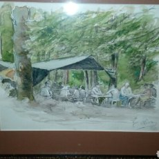 Arte: EUGENIO OLIVA, ACUARELA FIRMADA Y ENMARCADA. Lote 113186130