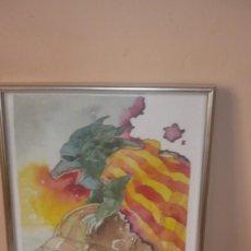 Arte: ACUARELA FIRMA AUTOR -BANDERA DRAGONIANA. Lote 113268119