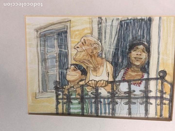 4 acuarelas pintadas a mano enmarcadas ilustrac - Comprar Acuarelas ...