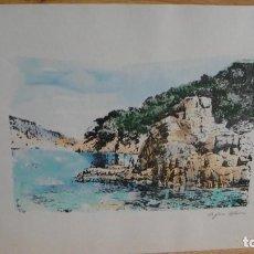 Arte: ACUARELA DE PAISAJE COSTERO - FIRMADA. Lote 113836767