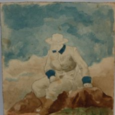 Arte: ANONIMO DE FINALES DEL SIGLO XIX. ACUARELA SOBRE PAPEL. MILITAR. Lote 113962167