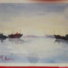 Arte: JOSE LUIS GOMEZ ABELLAN - ACUARELA ENMARCADA 41 X 31. Lote 114060762