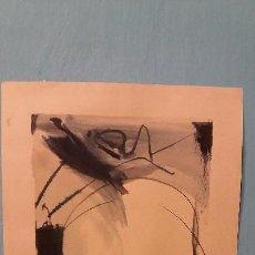 Arte: WILLEM KOONING ARTISTA AMERICANO ACUARELA SOBRE PAPEL FIRMADO. Lote 114359307