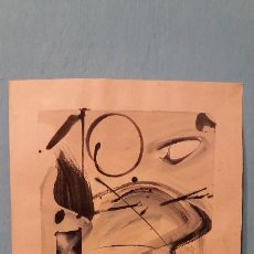 Arte: WILLEM KOONING ARTISTA AMERICANO ACUARELA SOBRE PAPEL FIRMADO. Lote 114359791