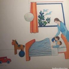 Arte: ILUSTRACIÓN ORIGINAL DE MIREIA CATALA PARA ENCICLOPEDIA INFANTIL, FIRMADA Y CATALOGADA. Lote 115023627