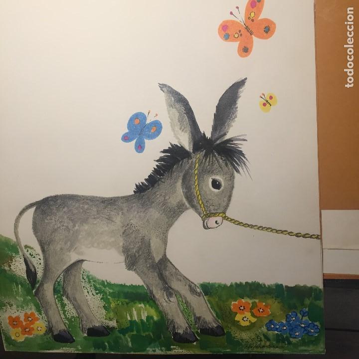 Arte: Maria Rius Camps, firmado y catalogado, gran formato 45x50 cms - Foto 4 - 115024211