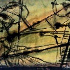Arte: COMPOSICIÓN ABSTRACTA. ACUARELA SOBRE PAPEL. FIRMADO VILA MONCAU. ESPAÑA. SIGLO XX. Lote 115099667